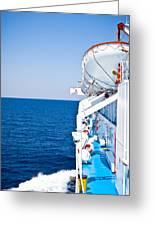 Cruise Ship Greeting Card by Tom Gowanlock