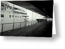 Cruise Ships Greeting Card by Dean Harte