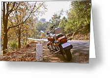 Cruiser In Autumn Greeting Card by Kantilal Patel