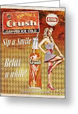 Crush Greeting Card by Mo T