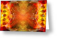 Crystal And Celestial Healing - Fire Agate Greeting Card by Leanne M Williams