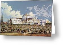 Crystal Palace New York Greeting Card by WS Parkes