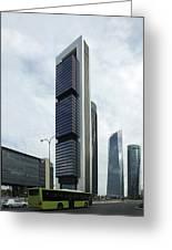Ctba Skyscrapers, Madrid Greeting Card by Carlos Dominguez