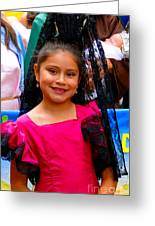 Cuenca Kids 213 Greeting Card by Al Bourassa