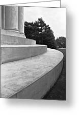Curvilinear Marble Greeting Card by Jan Faul