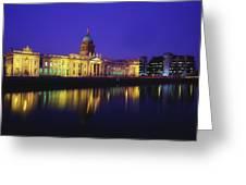 Custom House, Dublin, Co Dublin Greeting Card by The Irish Image Collection