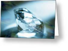 Cut Diamond Greeting Card by Pasieka