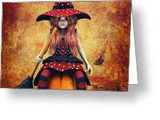 Cutest Little Witch Greeting Card by Jutta Maria Pusl