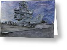Cvn 65 Uss Enterprise Greeting Card by Sarah Howland-Ludwig