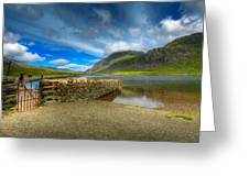 Cwm Idwal Greeting Card by Adrian Evans