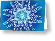 Cyanide Snowflake Greeting Card by Val Black Russian Tourchin