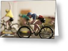 Cyclists. Figurines. Symbolic Image Tour De France Greeting Card by Bernard Jaubert