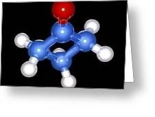 Cyclobutanone Molecule Greeting Card by Laguna Design