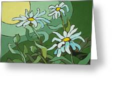 Daisy Dance Greeting Card by Sandy Tracey