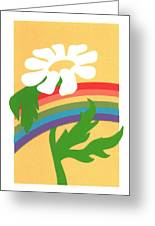 Daisy's Rainbow Greeting Card by Terry Taylor
