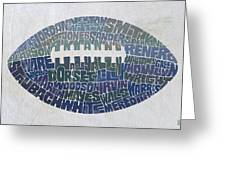 Dallas Cowboy Football Greeting Card by Mitch Frey