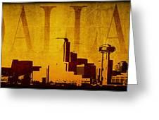 Dallas Greeting Card by Ricky Barnard