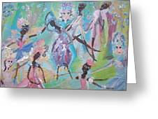 Dame Harmony Pantomime Greeting Card by Judith Desrosiers