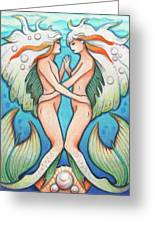 Dance In The Depths Greeting Card by Amy S Turner