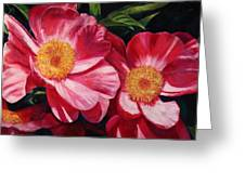 Dance Of The Peonies Greeting Card by Billie Colson