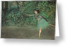 Dancer On The Stage Greeting Card by Edgar Degas
