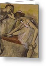 Dancers In Repose Greeting Card by Edgar Degas