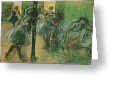 Dancers rehearsing Greeting Card by Edgar Degas
