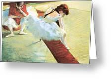 Dancers Resting Greeting Card by Edgar Degas