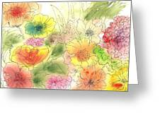 Dancing Flowers Greeting Card by Christine Crawford
