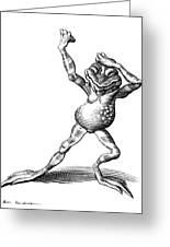 Dancing Frog, Conceptual Artwork Greeting Card by Bill Sanderson