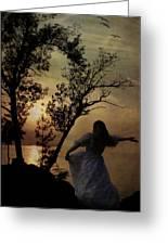 Dancing Girl Greeting Card by Joana Kruse