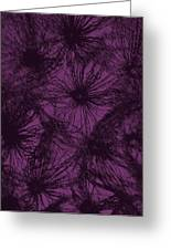 Dandelion Abstract Greeting Card by Ernie Echols