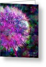 Dandelion Party Greeting Card by Judi Bagwell