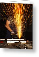 Danger At Work Greeting Card by Gualtiero Boffi