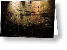 Dark Door Greeting Card by Janet Kearns