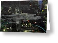 Dark Space Greeting Card by Ethel Vrana