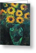 Darkened Sun Greeting Card by Carrie Jackson