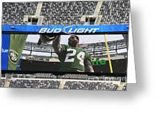 Darrelle Revis - Ny Jets Greeting Card by Paul Ward