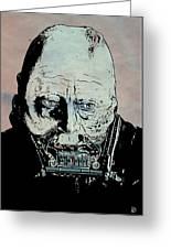 Darth Vader Anakin Skywalker Greeting Card by Giuseppe Cristiano