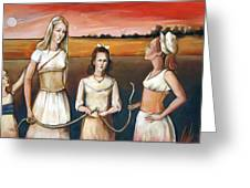 Daughter's Of Eve Greeting Card by Jacque Hudson