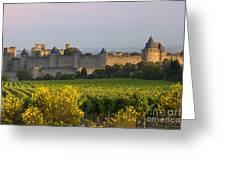 Dawn In Carcassonne Greeting Card by Brian Jannsen