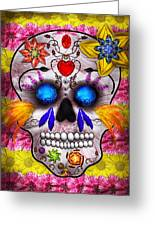 Day Of The Dead - Death Mask Greeting Card by Mike Savad