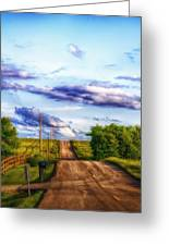 Daylight Fades In New Melle Greeting Card by Bill Tiepelman