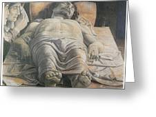 Dead Christ Greeting Card by Andrea Mantegna