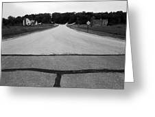 Dead End On Highway C Greeting Card by Jan Faul