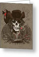 Dead Man Greeting Card by Michael Myers