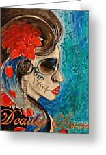 Deadly Sweet Greeting Card by Sandro Ramani