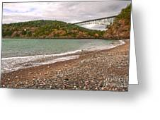 Deception Pass Washington Greeting Card by Artist and Photographer Laura Wrede
