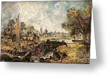 Dedham Lock Greeting Card by John Constable