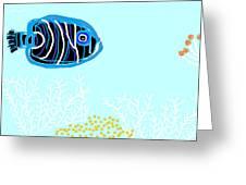 Deep Blue Sea Greeting Card by Watcharee Suebkhajorn